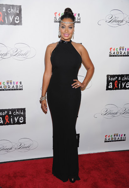 Lala Anthomy at the 8th annual Keep A Child Alive Black Ball