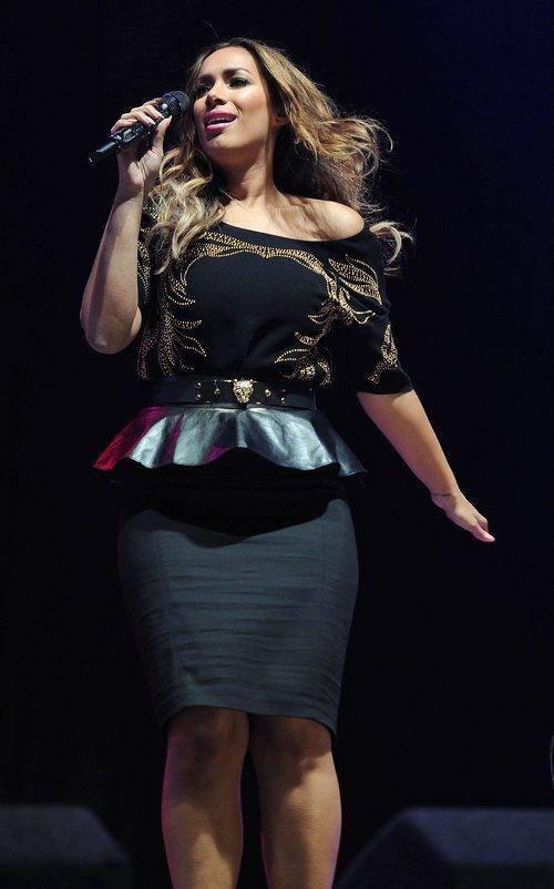 Leona Lewis perfoming at the key jingle at Manchester Arena England.
