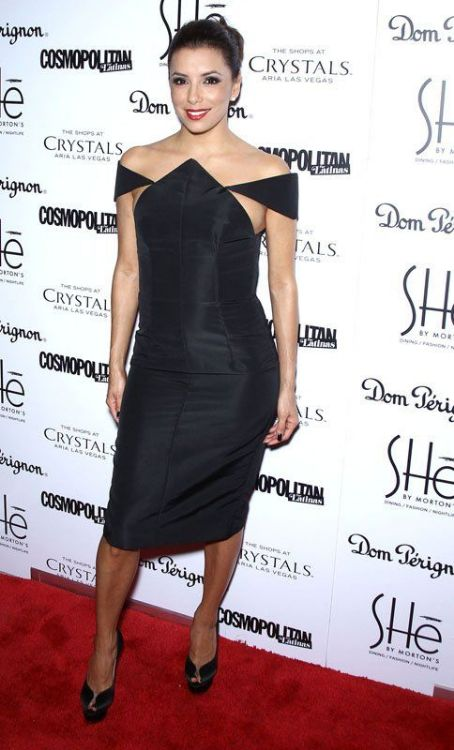 Eva Longoria went to the SHe by Morton's grand opening in Las Vegas