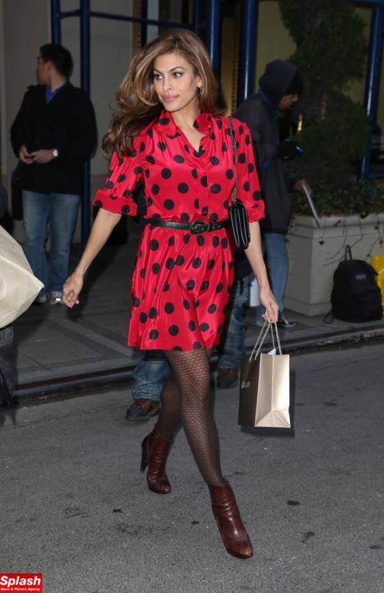 Eva Mendes out & about