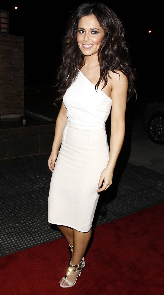 Cheryl Cole arrives in Manchester, England to attend 'Girls Aloud' tour end party.
