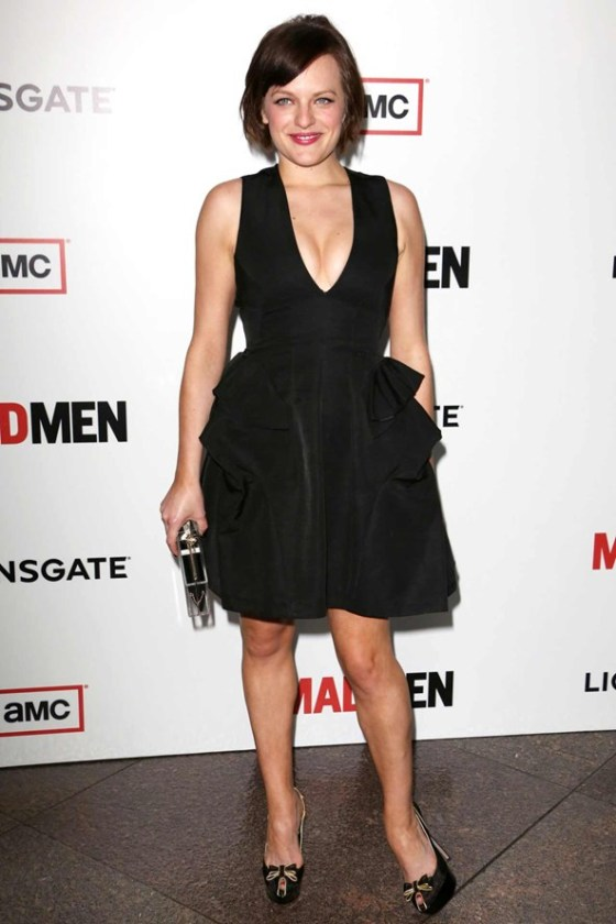 Actress Elisabeth Moss arrives at the Premiere of AMC's 'Mad Men' Season 6 at DGA Theater on March 20, 2013 in Los Angeles, California.