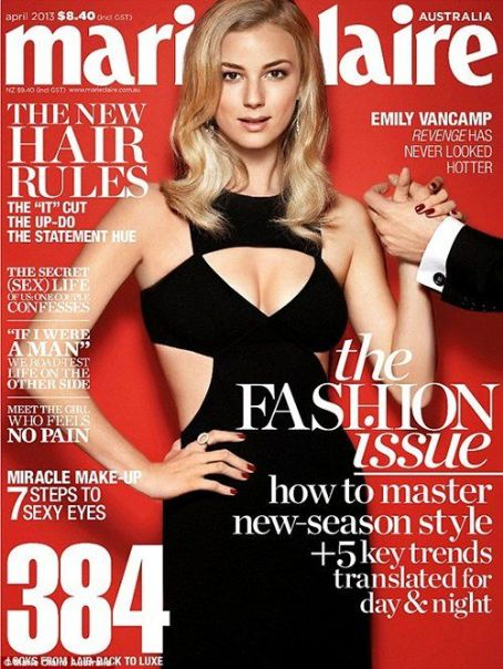 Emily VanCamp April 2013 issue of Marie Claire Australia