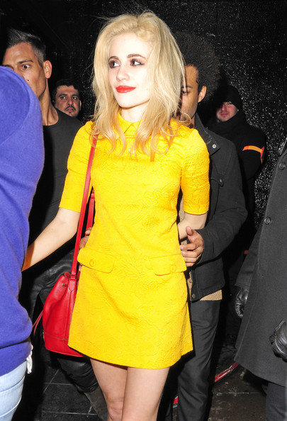 Pixie Lott seen leaving The Rose Club with her brother in London.