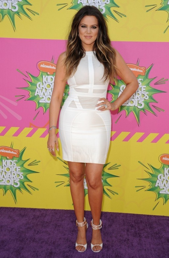 Reality Star Khloe Kardashian arrives at Nickelodeon's 26th Annual Kids' Choice Awards at USC Galen Center on March 23, 2013 in Los Angeles, California.