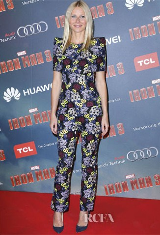 Gwyneth Paltrow wearing Erdem – At the 'Iron Man 3′ Paris Premiere.
