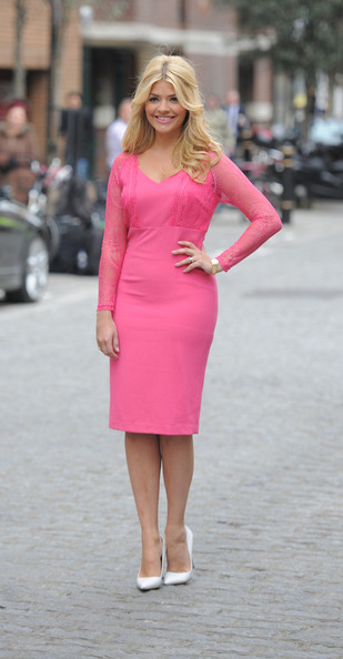 Holly Willoughby Poses for Photographers