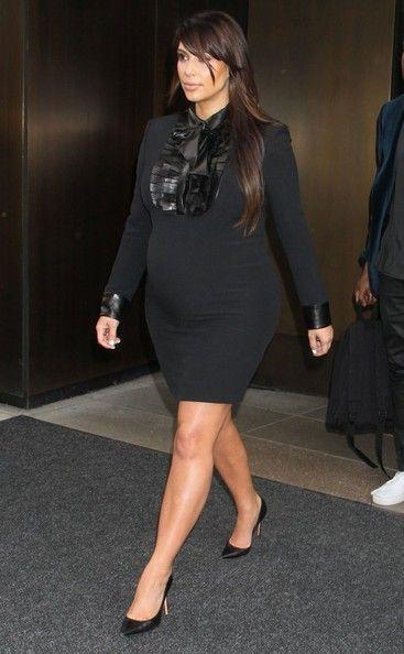 Kim Kardashian out in NY.