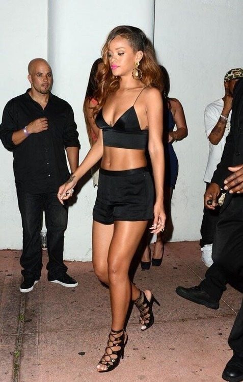 Rihanna out & about in Alexander Wang and Tom Ford.