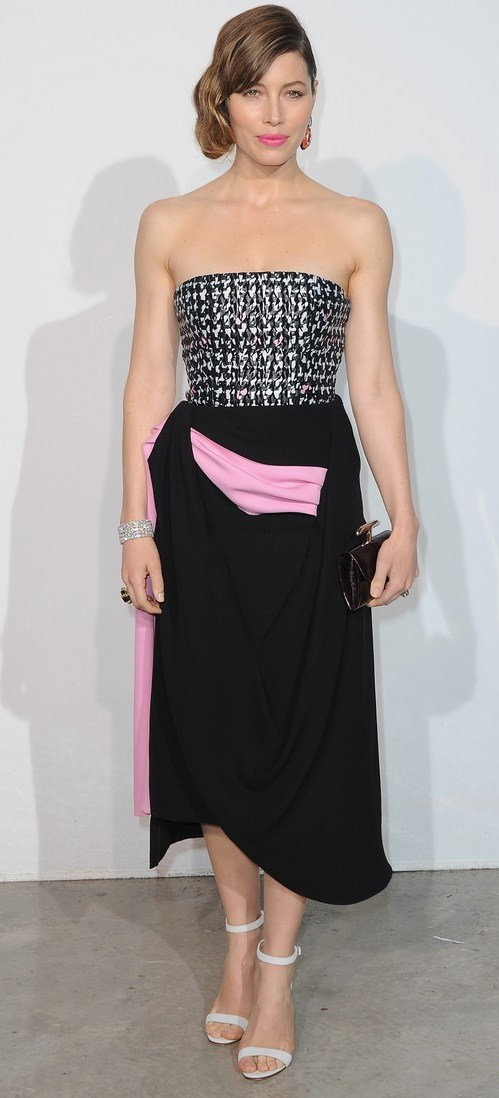 Jessica Biel at the Marion Cotillard Dior Cruise Collection Show