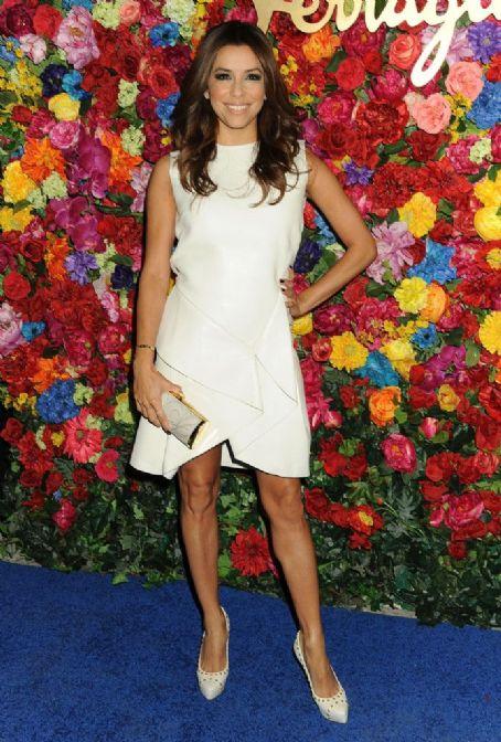 Eva Longoria wears Salvatore Ferragamo - The Launch Of L'Icona