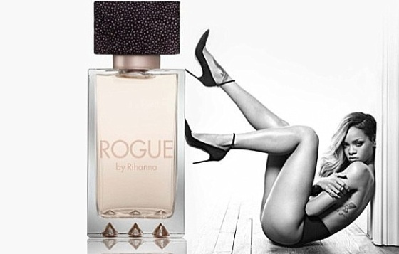 Rihanna: Topless For 'Rogue' Campaign!