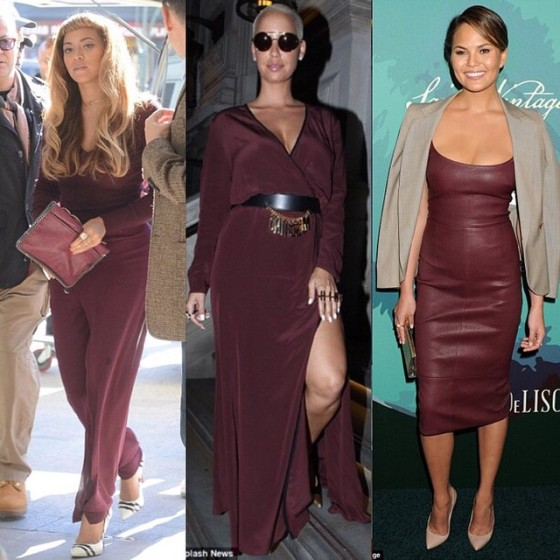 Beyonce, Amber Rose, Chrissy Teigen