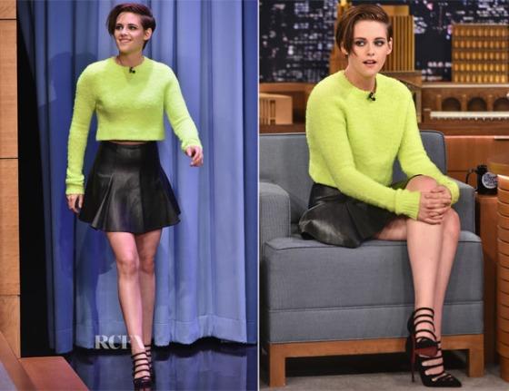 Kristen Stewart In Polo Ralph Lauren – At the Tonight Show Starring Jimmy Fallon.