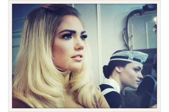 Kate Upton inspired by Brigitte Bardot.